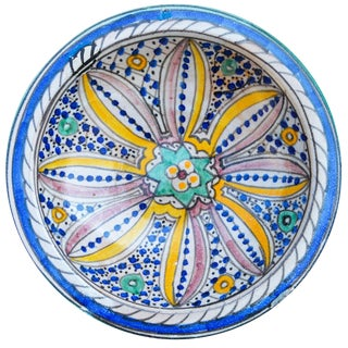 Arabesque Design Ceramic Plate For Sale