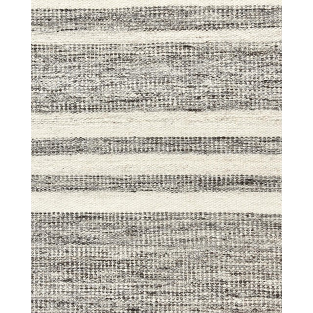 Lorrena, Contemporary Flatweave Hand Woven Area Rug, Gray, 8 X 10 For Sale - Image 4 of 9