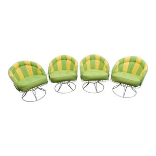 Homecrest Mid Century Modern Iron Lounge Chairs/ Set of 4 For Sale
