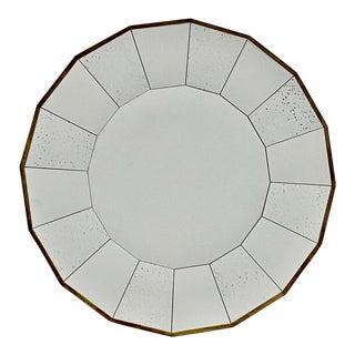 Mid-Century Modern Scalloped Round Mirror For Sale