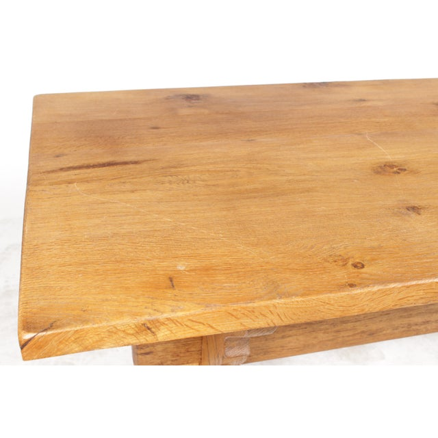 French Country-Style Trestle Table - Image 7 of 8
