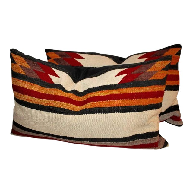 Navajo Indian Weaving Saddle Blanket Pillows For Sale
