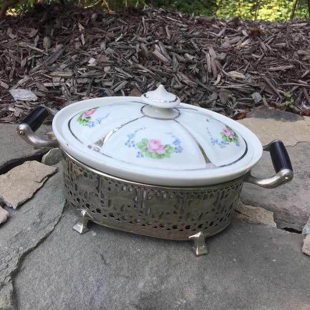 Vintage Royal Rochester Tureen in Silver Caddy - Image 4 of 10