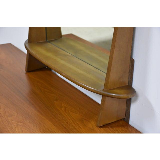 Ward Furniture Walnut Dresser & Mirror - Image 9 of 10