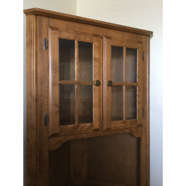 Corner Hutch/Buffet/China Cabinet - Handcrafted, Solid Birch - Image 3 of 10