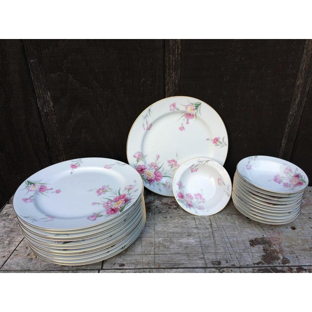 Beautiful set of Pink Carnations Noritake china. We were told this pattern was discontinued in 1950/51 and this set dates...
