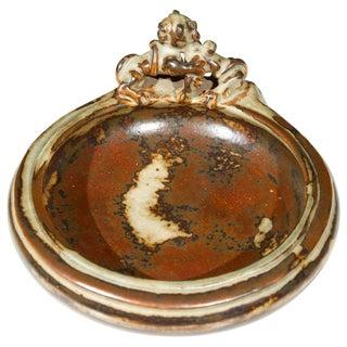 1950s Danish Modern Royal Copenhagen Brown Stoneware Bowl For Sale