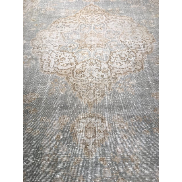 "Distressed Turkish Oushak Rug - 9'5"" X 12'8"" - Image 5 of 9"
