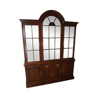 Pennsylvania House Traditional Cherry Wood China Cabinet For Sale
