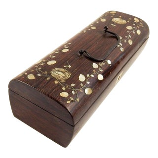 Antique Mother of Pearl Inlay Box For Sale