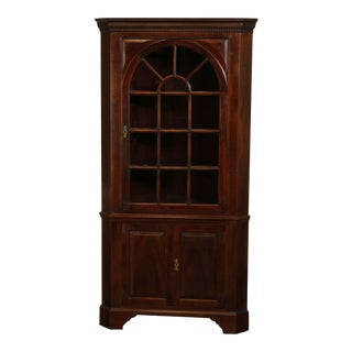 Stickley Traditional Mahogany Corner Cabinet For Sale