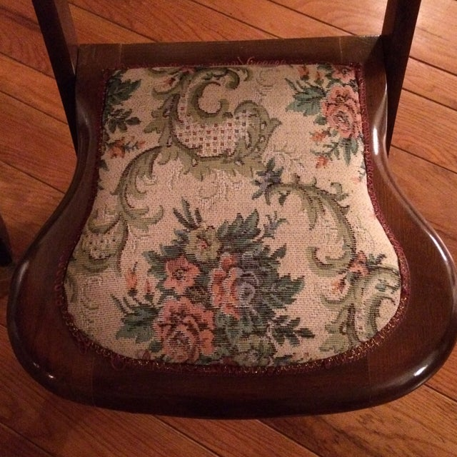 Vintage Victorian Style Campaign Parlor Chairs - Set of 4 - Image 9 of 11