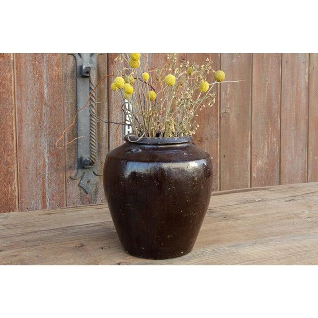 Moroccan Antique Ebony Mandalay Martaban Jar For Sale - Image 3 of 6