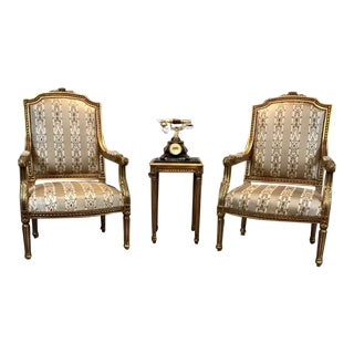 French Long Seated Chair, Antique Vintage Furniture Reproduction, French Furniture For Sale