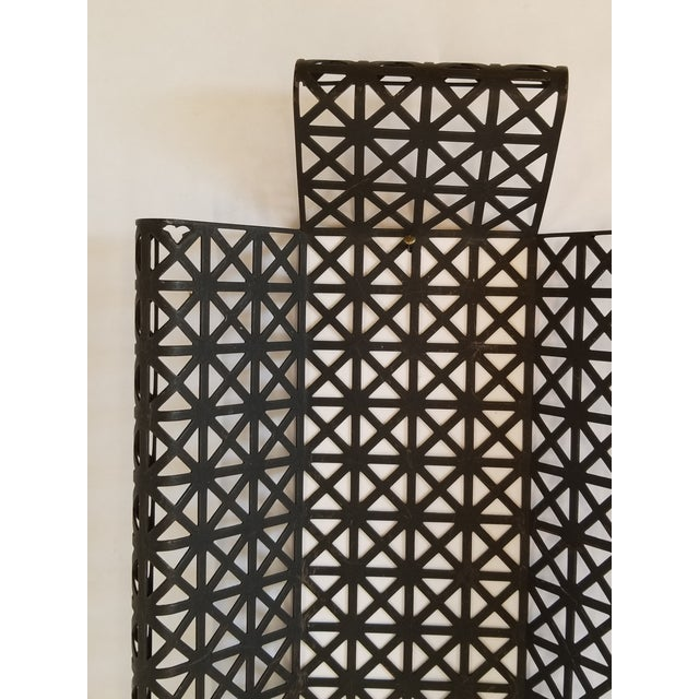 Mid Century Modern Wire Mesh Candle Holder & Shelf Set For Sale In New York - Image 6 of 13