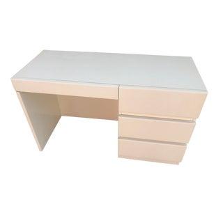 Mid Century Modern White Desk For Sale