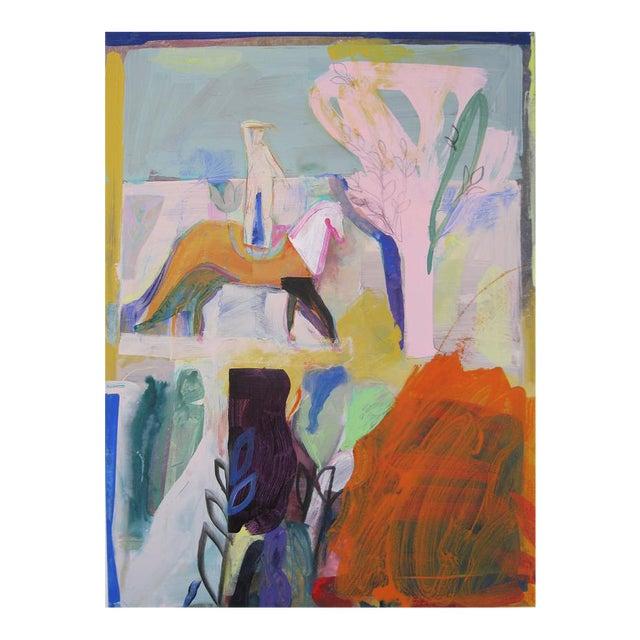 Orange Desert Painting by Andrew Portwood For Sale
