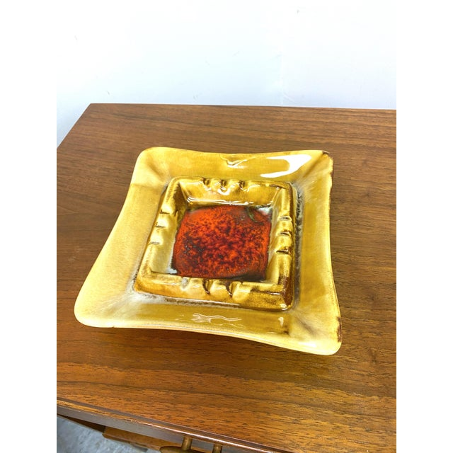Vintage California Pottery Mid-Century Ashtray For Sale - Image 10 of 11