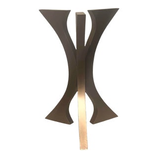 Handmade Center Table for Foyer by Invictus Steelworks For Sale