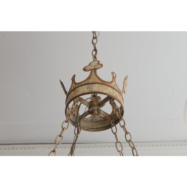 Handmade & Hand Painted Crown Chandelier - Image 5 of 6