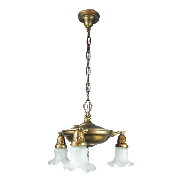 Original Pan Light Fixture (3-Light) - Image 1 of 8