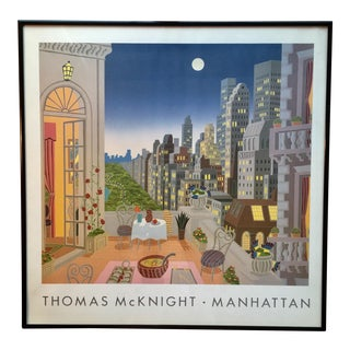 "Thomas McKnight ""Manhattan"" Framed Poster"