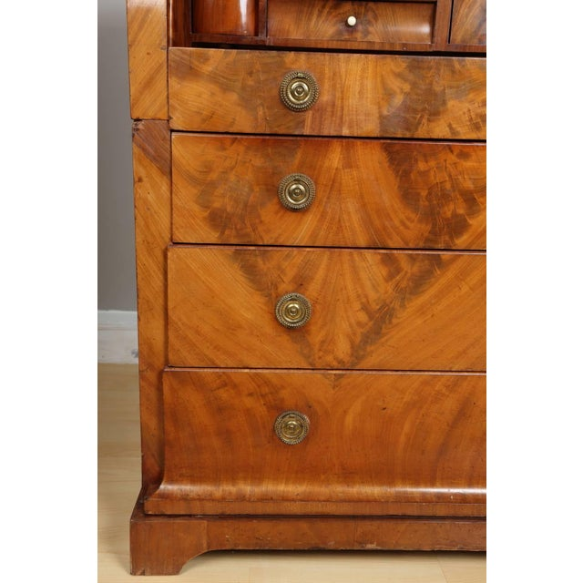 Wood Biedermeier Mahogany Root Secretaire, Circa 1820 For Sale - Image 7 of 10