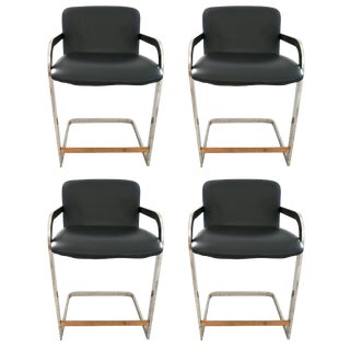 Set of Four Counter Height Bar Stools by Design Institute of America 1996 For Sale