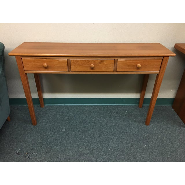 Teak Console Table - Image 2 of 7