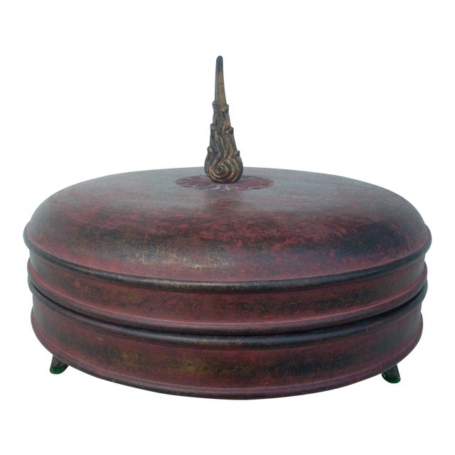 Chinoiserie Cylindrical Box For Sale
