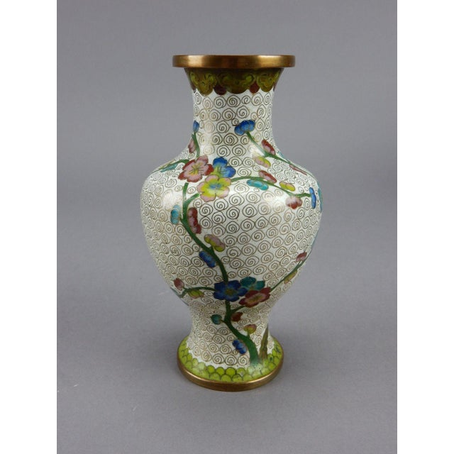 Antique Chinese Cloisonne Vase For Sale - Image 9 of 11