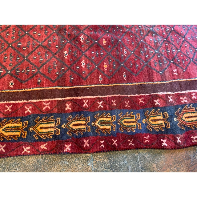 "Hand-Tied Red Persian Kolia Rug 4'11 X 8'10"" For Sale - Image 10 of 13"