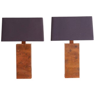Patinated Copper Lamps by Arteriors Tanner Kenzie For Sale
