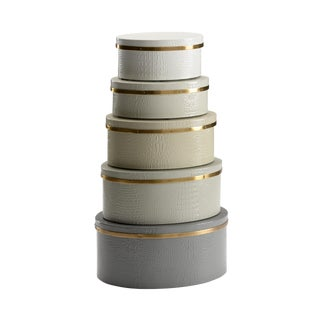 Wildwood Gray Boxes - Set of 5 For Sale