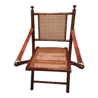 1990s Stiles Brothers for Bauer Furniture Travelers Folding Chair For Sale