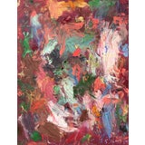 Image of 'Red House' Abstract Oil Painting by Sean Kratzert For Sale