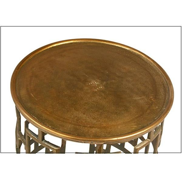 Contemporary Contemporary Brass Side Table For Sale - Image 3 of 3