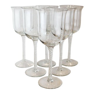 Large Airtwist Wine Glasses - Set of 6 For Sale