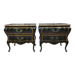 Union National Furniture Co Vintage Bombay Style Night Stands-A Pair For Sale