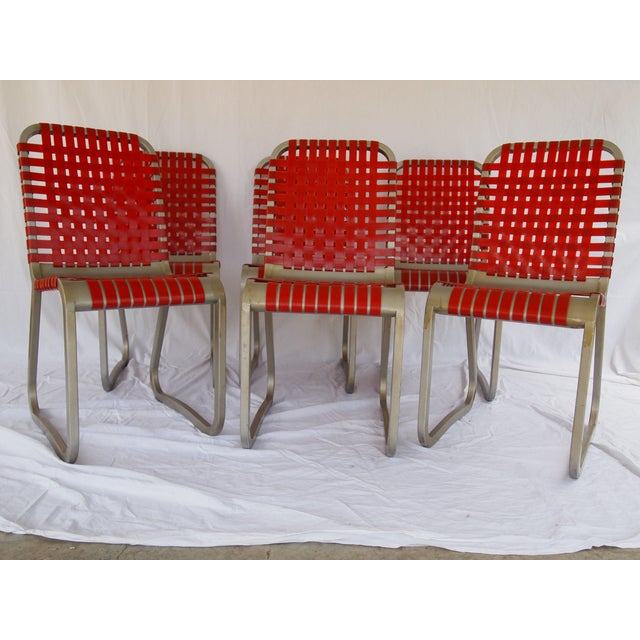 Mid-Century Aluminum Side Chairs - Set of 6 - Image 2 of 5