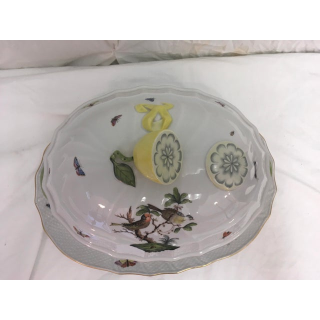 Traditional Herend Rothschild Tureen W/ Underplate For Sale - Image 3 of 13