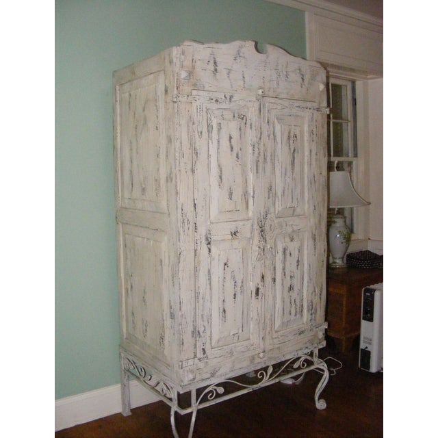 Metal French Country Armoire Cast Iron Stand For Sale - Image 7 of 7