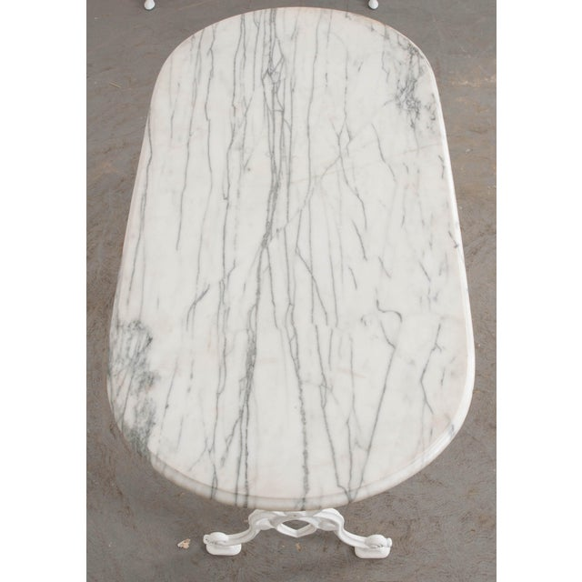 French Early 20th Century French Marble Top Bistro Table For Sale - Image 3 of 10