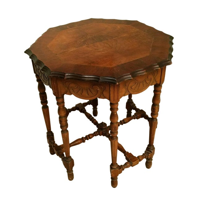 Antique Eight-Leg Octagonal Side Table - Image 1 of 4