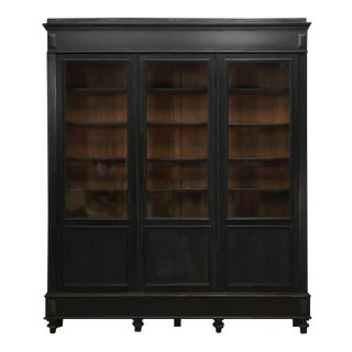 Antique French Original Ebony Bookcase For Sale