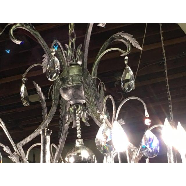 Schonbek Rustic Silver Metal Chandelier For Sale - Image 4 of 10