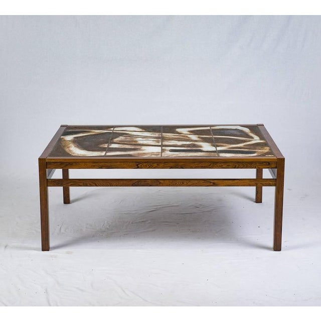 Danish Abstract Tile Coffee Table For Sale - Image 4 of 10