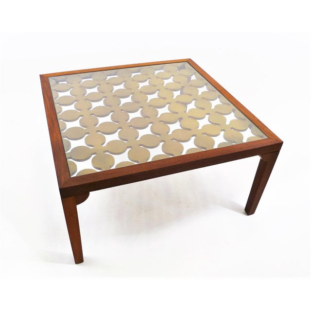 Parzinger Style Classy 50's Mahogany & Giltwood Grille Coffee Table - Image 13 of 13
