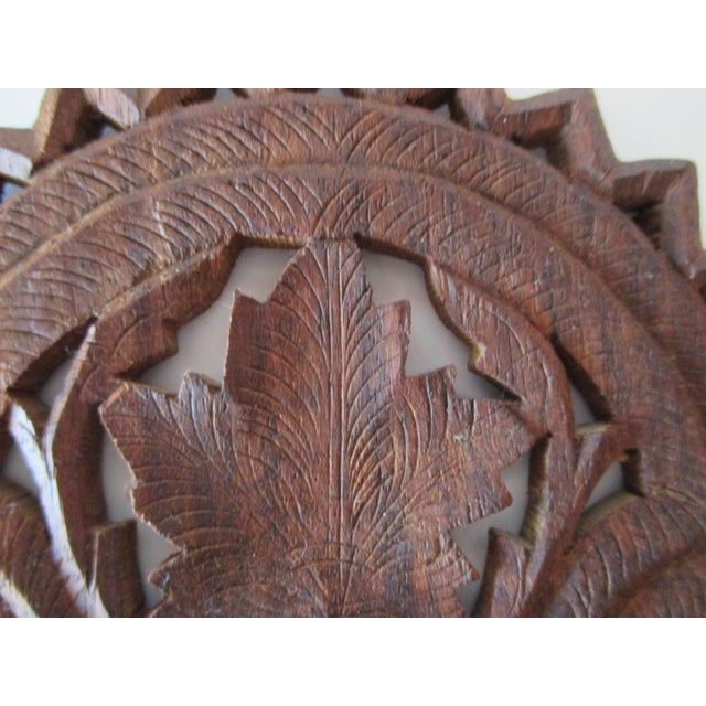 Decorative Petite Indian Carved Wood Shelf For decoration only Size: 8 x 5 x 0.25