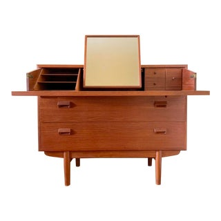 Mid Century Vanity & Dresser by Soborg Mobler of Denmark For Sale